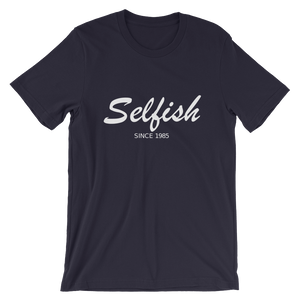Selfish Unisex T-Shirt, Collection Nicknames-Navy-S-Tamed Winds-tshirt-shop-and-sailing-blog-www-tamedwinds-com