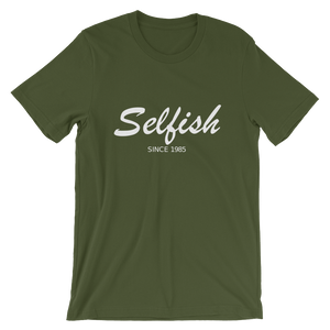 Selfish Unisex T-Shirt, Collection Nicknames-Olive-S-Tamed Winds-tshirt-shop-and-sailing-blog-www-tamedwinds-com
