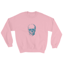 Skull Unisex Crewneck Sweatshirt, Collection Jolly Roger-Light Pink-S-Tamed Winds-tshirt-shop-and-sailing-blog-www-tamedwinds-com