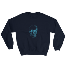 Skull Unisex Crewneck Sweatshirt, Collection Jolly Roger-Navy-S-Tamed Winds-tshirt-shop-and-sailing-blog-www-tamedwinds-com