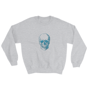 Skull Unisex Crewneck Sweatshirt, Collection Jolly Roger-Sport Grey-S-Tamed Winds-tshirt-shop-and-sailing-blog-www-tamedwinds-com
