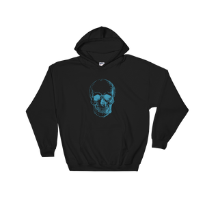 Skull Unisex Hooded Sweatshirt, Collection Jolly Roger-Black-S-Tamed Winds-tshirt-shop-and-sailing-blog-www-tamedwinds-com