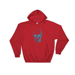 Skull Unisex Hooded Sweatshirt, Collection Jolly Roger-Red-S-Tamed Winds-tshirt-shop-and-sailing-blog-www-tamedwinds-com