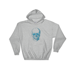 Skull Unisex Hooded Sweatshirt, Collection Jolly Roger-Sport Grey-S-Tamed Winds-tshirt-shop-and-sailing-blog-www-tamedwinds-com