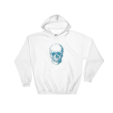 Skull Unisex Hooded Sweatshirt, Collection Jolly Roger-White-S-Tamed Winds-tshirt-shop-and-sailing-blog-www-tamedwinds-com