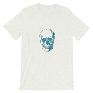 Skull Unisex T-Shirt, Collection Jolly Roger-Ash-S-Tamed Winds-tshirt-shop-and-sailing-blog-www-tamedwinds-com