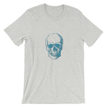 Skull Unisex T-Shirt, Collection Jolly Roger-Athletic Heather-S-Tamed Winds-tshirt-shop-and-sailing-blog-www-tamedwinds-com