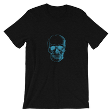 Skull Unisex T-Shirt, Collection Jolly Roger-Black Heather-S-Tamed Winds-tshirt-shop-and-sailing-blog-www-tamedwinds-com