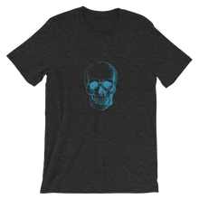 Skull Unisex T-Shirt, Collection Jolly Roger-Dark Grey Heather-S-Tamed Winds-tshirt-shop-and-sailing-blog-www-tamedwinds-com