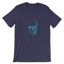 Skull Unisex T-Shirt, Collection Jolly Roger-Heather Midnight Navy-S-Tamed Winds-tshirt-shop-and-sailing-blog-www-tamedwinds-com