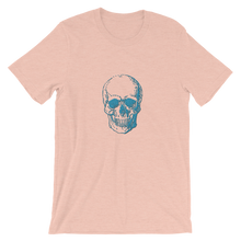 Skull Unisex T-Shirt, Collection Jolly Roger-Heather Prism Peach-S-Tamed Winds-tshirt-shop-and-sailing-blog-www-tamedwinds-com