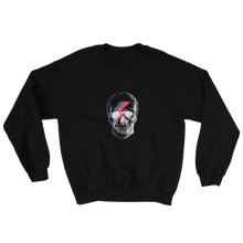 Starman Skull Unisex Crewneck Sweatshirt, Collection Jolly Roger-Black-S-Tamed Winds-tshirt-shop-and-sailing-blog-www-tamedwinds-com
