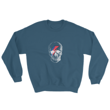 Starman Skull Unisex Crewneck Sweatshirt, Collection Jolly Roger-Indigo Blue-S-Tamed Winds-tshirt-shop-and-sailing-blog-www-tamedwinds-com