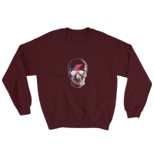 Starman Skull Unisex Crewneck Sweatshirt, Collection Jolly Roger-Maroon-S-Tamed Winds-tshirt-shop-and-sailing-blog-www-tamedwinds-com