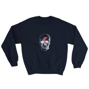 Starman Skull Unisex Crewneck Sweatshirt, Collection Jolly Roger-Navy-S-Tamed Winds-tshirt-shop-and-sailing-blog-www-tamedwinds-com