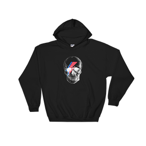 Starman Skull Unisex Hooded Sweatshirt, Collection Jolly Roger-Black-S-Tamed Winds-tshirt-shop-and-sailing-blog-www-tamedwinds-com