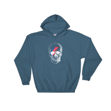 Starman Skull Unisex Hooded Sweatshirt, Collection Jolly Roger-Indigo Blue-S-Tamed Winds-tshirt-shop-and-sailing-blog-www-tamedwinds-com