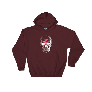 Starman Skull Unisex Hooded Sweatshirt, Collection Jolly Roger-Maroon-S-Tamed Winds-tshirt-shop-and-sailing-blog-www-tamedwinds-com