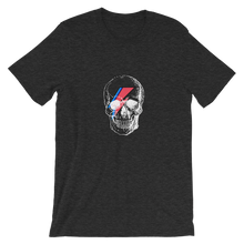 Starman Skull Unisex T-Shirt, Collection Jolly Roger-Dark Grey Heather-S-Tamed Winds-tshirt-shop-and-sailing-blog-www-tamedwinds-com