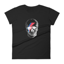 Starman Skull Women's Round Neck T-Shirt, Collection Jolly Roger-Black-S-Tamed Winds-tshirt-shop-and-sailing-blog-www-tamedwinds-com