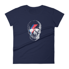 Starman Skull Women's Round Neck T-Shirt, Collection Jolly Roger-Navy-S-Tamed Winds-tshirt-shop-and-sailing-blog-www-tamedwinds-com