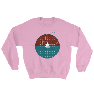 Starry Night Unisex Crewneck Sweatshirt, Collection Fjaka-Light Pink-S-Tamed Winds-tshirt-shop-and-sailing-blog-www-tamedwinds-com
