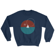 Starry Night Unisex Crewneck Sweatshirt, Collection Fjaka-Navy-S-Tamed Winds-tshirt-shop-and-sailing-blog-www-tamedwinds-com