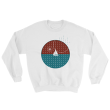 Starry Night Unisex Crewneck Sweatshirt, Collection Fjaka-White-S-Tamed Winds-tshirt-shop-and-sailing-blog-www-tamedwinds-com