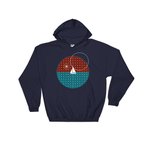 Starry Night Unisex Hooded Sweatshirt, Collection Fjaka-Navy-S-Tamed Winds-tshirt-shop-and-sailing-blog-www-tamedwinds-com
