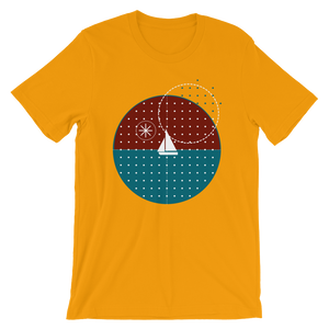 Starry Night Unisex T-Shirt, Collection Fjaka-Gold-S-Tamed Winds-tshirt-shop-and-sailing-blog-www-tamedwinds-com