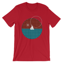 Starry Night Unisex T-Shirt, Collection Fjaka-Red-S-Tamed Winds-tshirt-shop-and-sailing-blog-www-tamedwinds-com