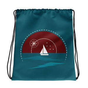 Sunset Drawstring Bag, Collection Fjaka-Tamed Winds-tshirt-shop-and-sailing-blog-www-tamedwinds-com