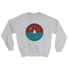 Sunset Unisex Crewneck Sweatshirt, Collection Fjaka-Sport Grey-S-Tamed Winds-tshirt-shop-and-sailing-blog-www-tamedwinds-com