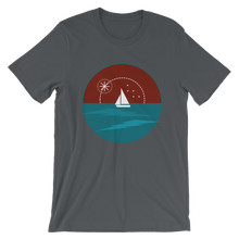 Sunset Unisex T-Shirt, Collection Fjaka-Asphalt-S-Tamed Winds-tshirt-shop-and-sailing-blog-www-tamedwinds-com