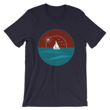 Sunset Unisex T-Shirt, Collection Fjaka-Navy-S-Tamed Winds-tshirt-shop-and-sailing-blog-www-tamedwinds-com