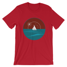Sunset Unisex T-Shirt, Collection Fjaka-Red-S-Tamed Winds-tshirt-shop-and-sailing-blog-www-tamedwinds-com
