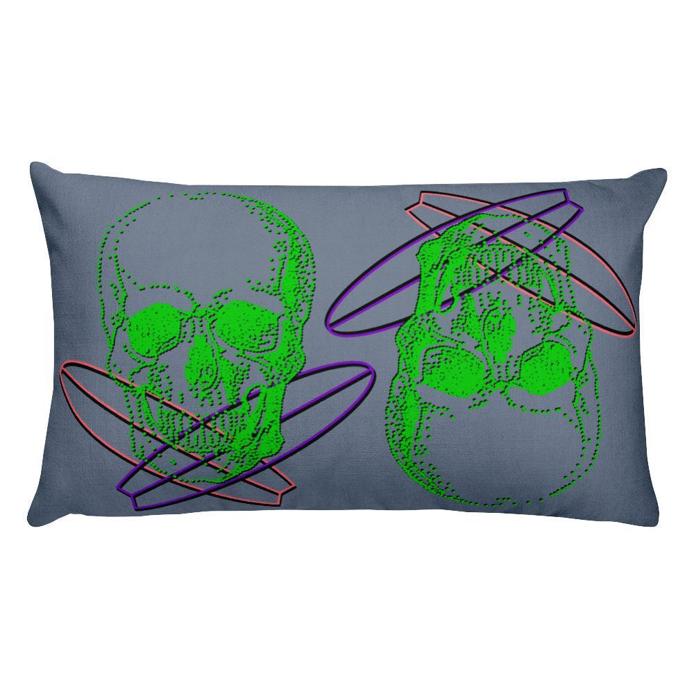 Surfer Skull Decorative Pillow, Collection Jolly Roger-Tamed Winds-tshirt-shop-and-sailing-blog-www-tamedwinds-com