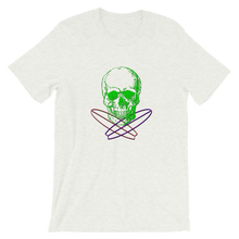 Surfer Skull Unisex T-Shirt, Collection Jolly Roger-Ash-S-Tamed Winds-tshirt-shop-and-sailing-blog-www-tamedwinds-com