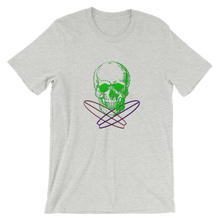 Surfer Skull Unisex T-Shirt, Collection Jolly Roger-Athletic Heather-S-Tamed Winds-tshirt-shop-and-sailing-blog-www-tamedwinds-com