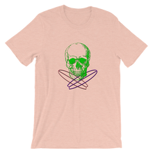 Surfer Skull Unisex T-Shirt, Collection Jolly Roger-Heather Prism Peach-S-Tamed Winds-tshirt-shop-and-sailing-blog-www-tamedwinds-com