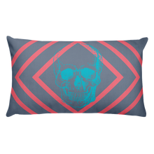 Toxic Skull Decorative Pillow, Collection Jolly Roger-Tamed Winds-tshirt-shop-and-sailing-blog-www-tamedwinds-com
