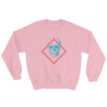Toxic Skull Unisex Crewneck Sweatshirt, Collection Jolly Roger-Light Pink-S-Tamed Winds-tshirt-shop-and-sailing-blog-www-tamedwinds-com
