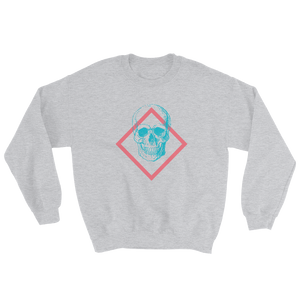 Toxic Skull Unisex Crewneck Sweatshirt, Collection Jolly Roger-Sport Grey-S-Tamed Winds-tshirt-shop-and-sailing-blog-www-tamedwinds-com