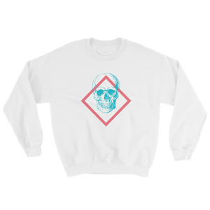 Toxic Skull Unisex Crewneck Sweatshirt, Collection Jolly Roger-White-S-Tamed Winds-tshirt-shop-and-sailing-blog-www-tamedwinds-com