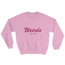 Weirdo Unisex Crewneck Sweatshirt, Collection Nicknames-Light Pink-S-Tamed Winds-tshirt-shop-and-sailing-blog-www-tamedwinds-com