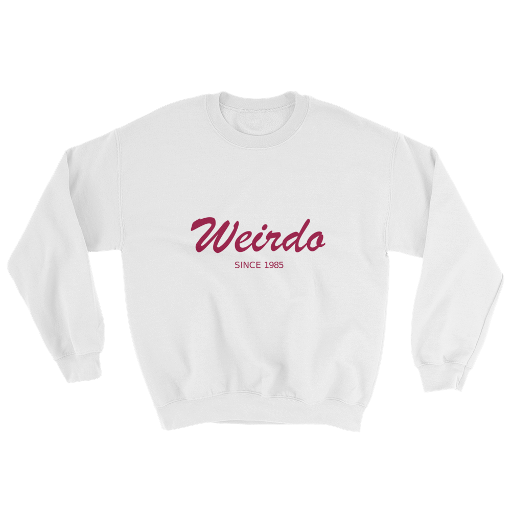 Weirdo Unisex Crewneck Sweatshirt, Collection Nicknames-White-S-Tamed Winds-tshirt-shop-and-sailing-blog-www-tamedwinds-com