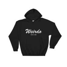 Weirdo Unisex Hooded Sweatshirt, Collection Nicknames-Black-S-Tamed Winds-tshirt-shop-and-sailing-blog-www-tamedwinds-com