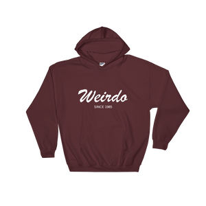 Weirdo Unisex Hooded Sweatshirt, Collection Nicknames-Maroon-S-Tamed Winds-tshirt-shop-and-sailing-blog-www-tamedwinds-com