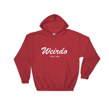 Weirdo Unisex Hooded Sweatshirt, Collection Nicknames-Red-S-Tamed Winds-tshirt-shop-and-sailing-blog-www-tamedwinds-com