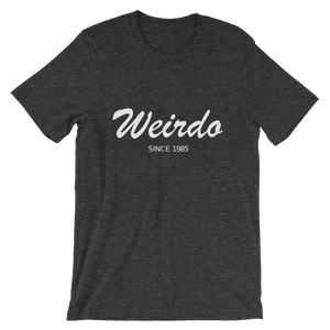 Weirdo Unisex T-Shirt, Collection Nicknames-Dark Grey Heather-S-Tamed Winds-tshirt-shop-and-sailing-blog-www-tamedwinds-com